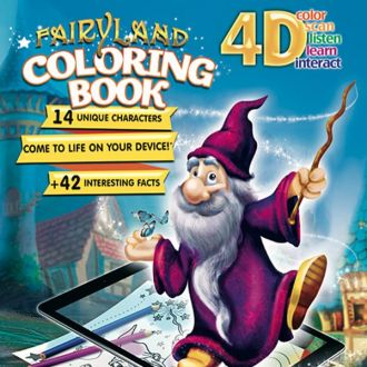 4D Augmented Reality Live Fairyland Coloring Book