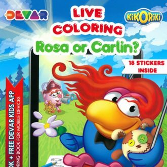 4D Augmented Reality LIVE ROSA OR CARLIN COLORING BOOK
